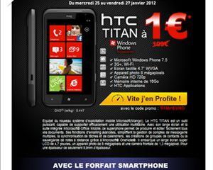 Vente Flash : le HTC Titan à 1€ chez La Poste Mobile