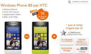 Le HTC Windows Phone 8S à 1€ chez Orange jusqu'au 24 janvier