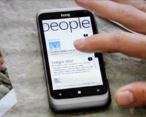 Une publicité à la TV pour le HTC Radar au Royaume-Uni