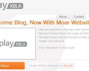 playXBLA, nouveau blog officiel de Microsoft pour le gaming