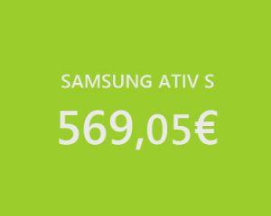 Le Samsung Ativ S disponible en précommande sur RDC à 569,05€