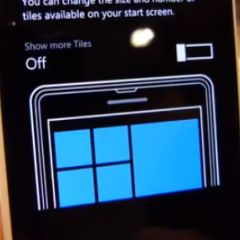 "[MAJ] Windows Phone 8.1 : démo vidéo de l'option ""Show More Tiles"""
