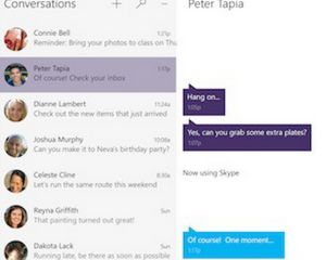 Windows 10 : le nouveau Skype se montre en images