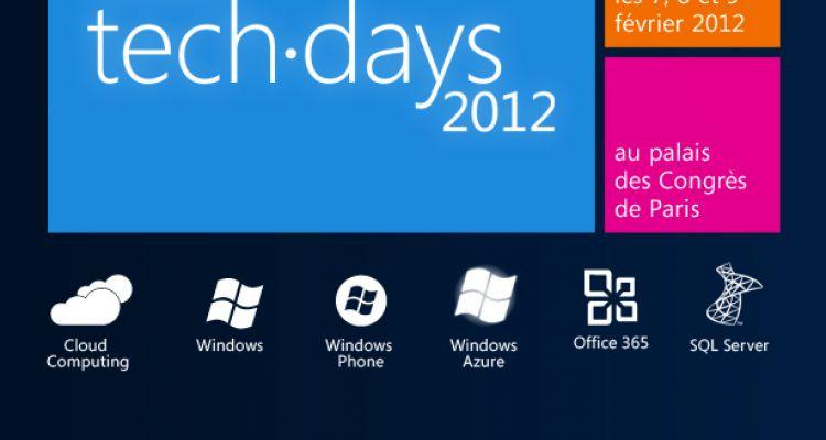 Les TechDays 2012 à Paris débutent aujourd'hui !