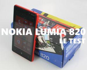 Test du Nokia Lumia 820 sous Windows Phone 8
