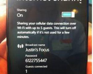 Précisions sur le tethering sous Windows Phone Mango