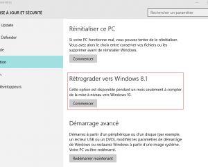 Vous êtes sous Windows 10 ? Le retour en arrière n'est sans doute plus possible