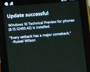 Windows 10 TP : pas de nouvelle MAJ de la preview avant la fin février