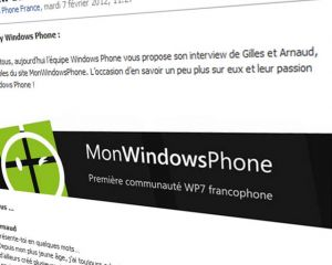 MonWindowsPhone interviewé par Windows Phone France