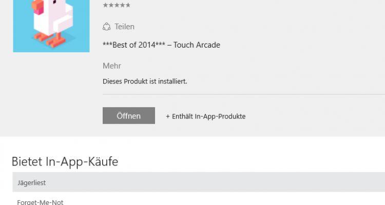 Windows 10 : le Store d'applis afficherait par défaut les achats intégrés ?
