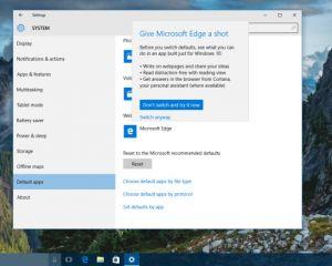 Microsoft veut inciter à l'utilisation de ses applis natives dans Windows 10