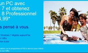 Mise à jour de votre PC Windows 7 vers Windows 8 pour 15€