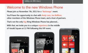 Microsoft annoncera des nouveautés pour Windows Phone le 7/11 ?