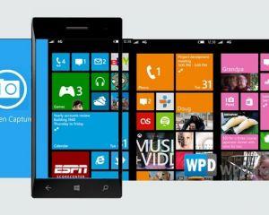 La capture d'écran intégrée dans WP8