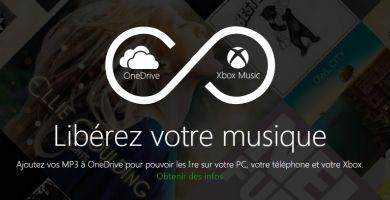Xbox Music intègre désormais vos musiques stockées sur Onedrive