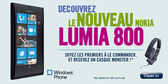nokia 800 offre