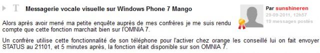 le point sur la messagerie vocale visuelle dans wp7 mango monwindows. Black Bedroom Furniture Sets. Home Design Ideas