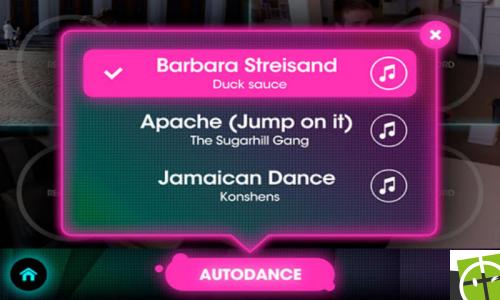 Autodance sur Windows Phone
