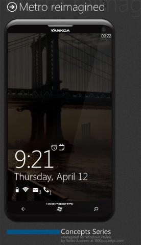 lockscreen windows phone 8 concept
