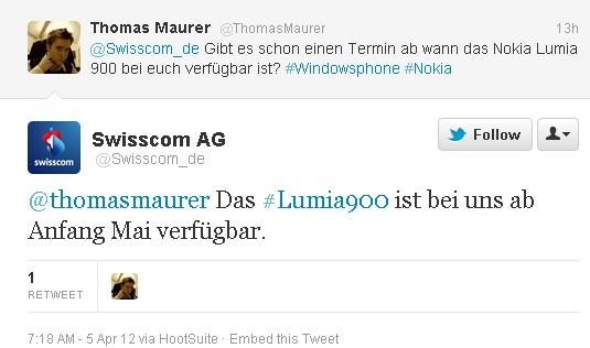 twitter swisscom lumia 900