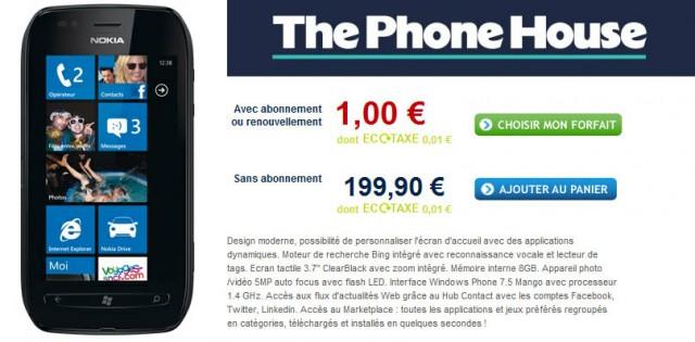 phone house lumia 710