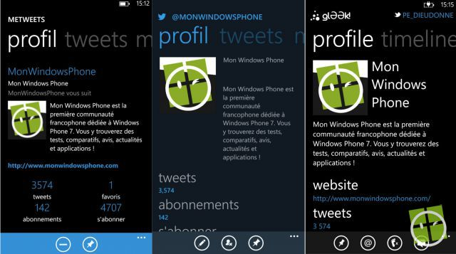 windows phone twitter
