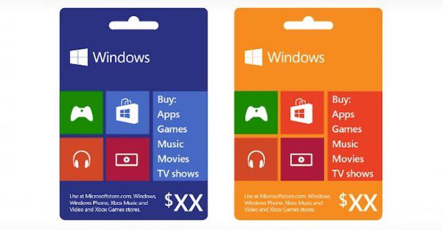 les cartes cadeaux arrivent bient t sur windows phone windows 8 xbox monwindows. Black Bedroom Furniture Sets. Home Design Ideas