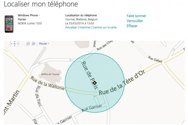 localiser telephone windows