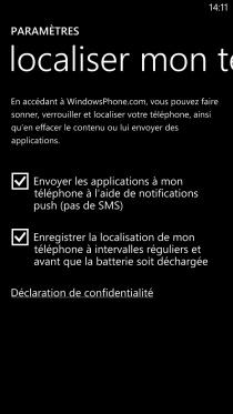 localisation de windows phone