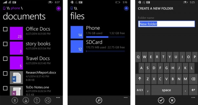 Windows-Phone-File-manager-Screen