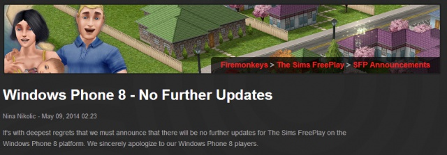 the sims for windows phone 8