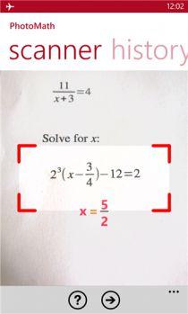 Resoudre toute les equation mathematique sur  Screen1_photomath_xruq