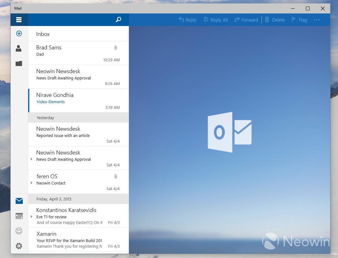 Courrier Et Calendrier.Windows 10 Desktop Les Apps Courrier Et Calendrier Fuitent