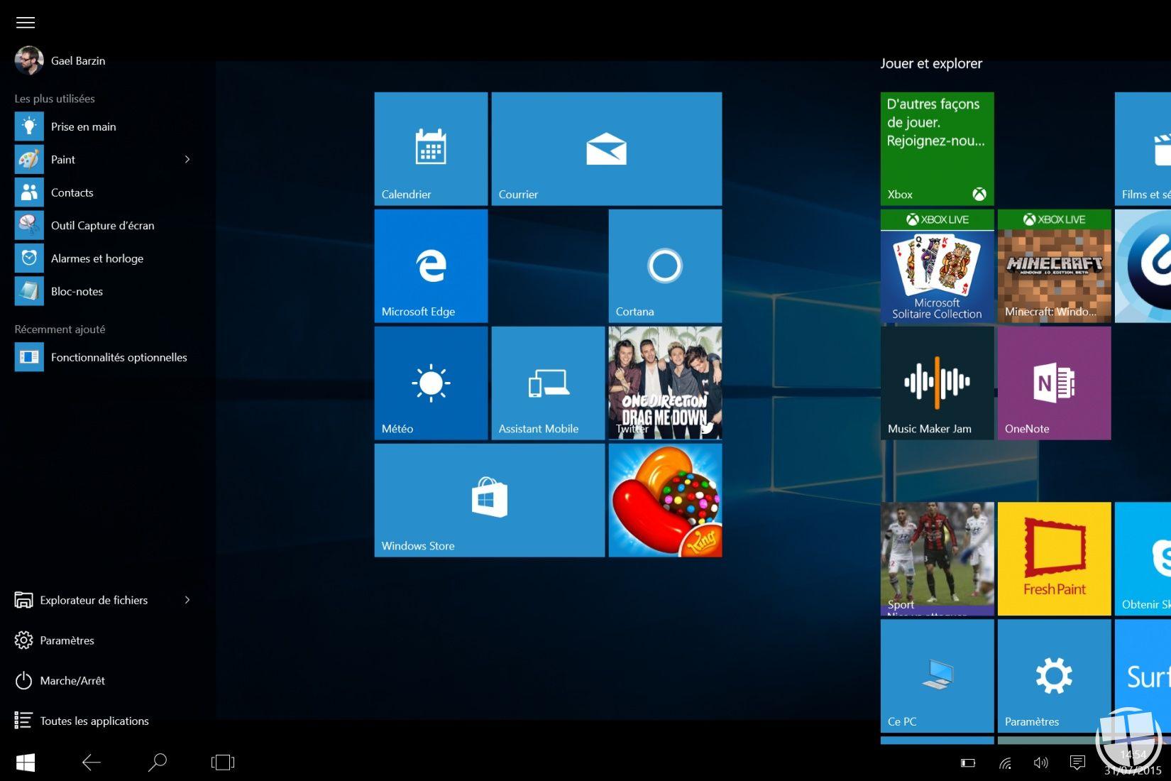 windows 10 analyse du nouveau mode tablette monwindows. Black Bedroom Furniture Sets. Home Design Ideas