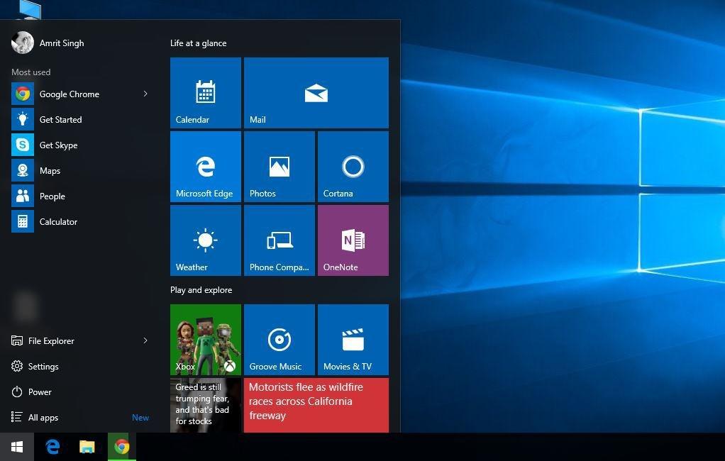 windows 10 desktop pas d 39 cran d accueil ni de synchronisation d 39 applis monwindows. Black Bedroom Furniture Sets. Home Design Ideas