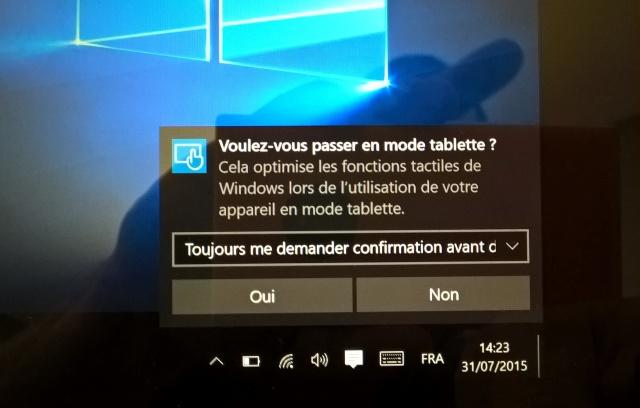 windows 10 analyse du nouveau mode tablette. Black Bedroom Furniture Sets. Home Design Ideas