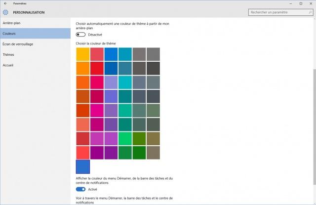 windows 10 comment personnaliser le nouveau menu. Black Bedroom Furniture Sets. Home Design Ideas