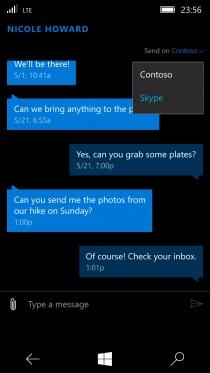 skype messaging beta int gre les services skype dans la messagerie de w10 mobile. Black Bedroom Furniture Sets. Home Design Ideas