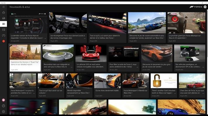 forza hub une application universelle d di e aux jeux de voiture de la xbox one monwindows. Black Bedroom Furniture Sets. Home Design Ideas