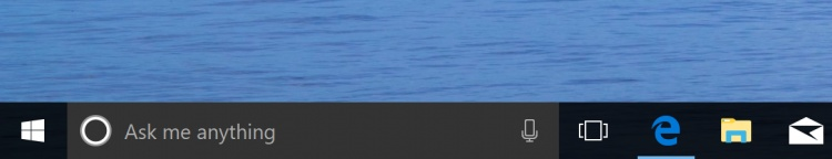 how to change color of cortana taskbar