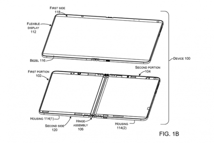 Foldable-Surface-Phone-patent-shows-device-with-one-flexible-screen-instead-of-two-separate-panels