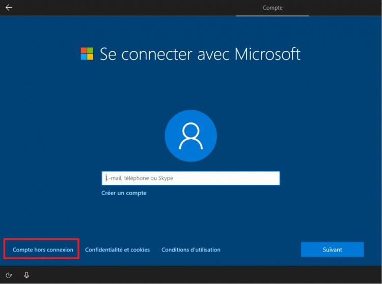 hors-connexion-windows-10