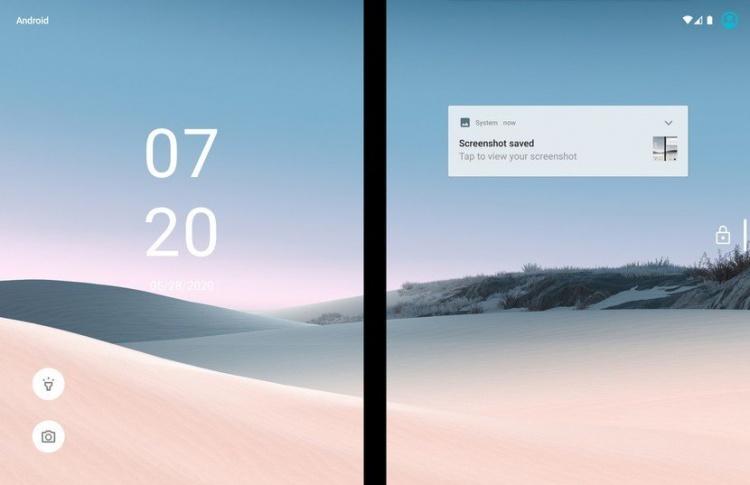surface-duo-lockscreen