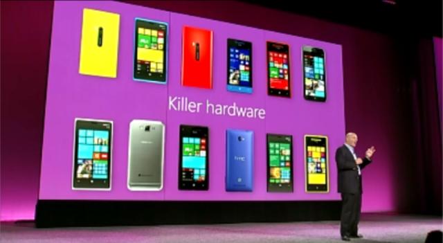 Smartphones tournant sous Windows Phone 8