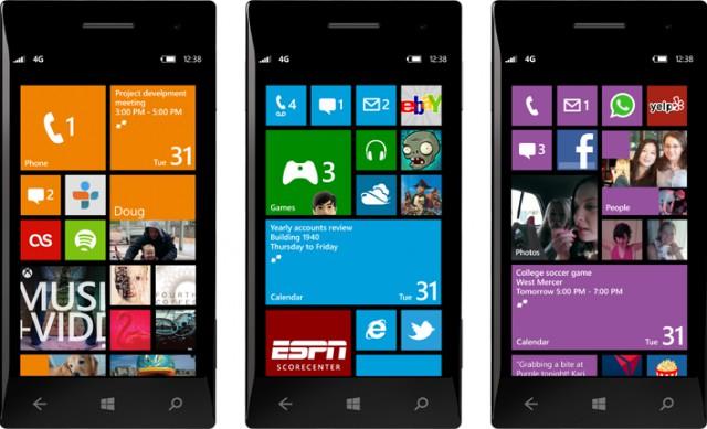 Interface utilisateur de Windows Phone 8